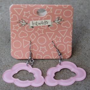 Erstwilder Earrings – Cloud Drop Pink Sparkle