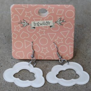 Erstwilder Earrings – Cloud Drop White