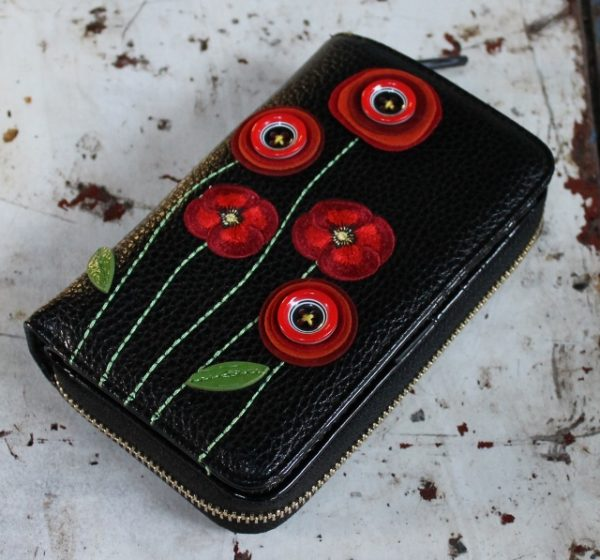 morpeth gift gallery hunter valley vendula red white poppy wallet purse coin large medium small handbag