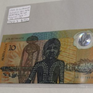 morpeth gift gallery hunter valley australian ten dollar note bicentenary 1988 polymer world's first commemorative