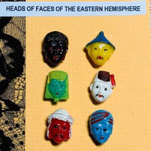 Heads of Faces of the Eastern Hemisphere Button Set