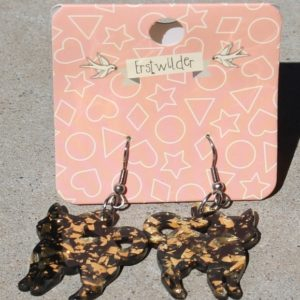 Erstwilder Earrings – Cat Gold Glitter Drop