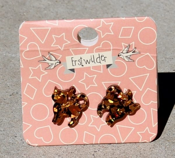 morpeth antique centre hunter valley erstwilder brooch enamel pin earrings necklace witch kitschy bone brigade retro pin up stud orange glitter cats collectable halloween all hallows eve