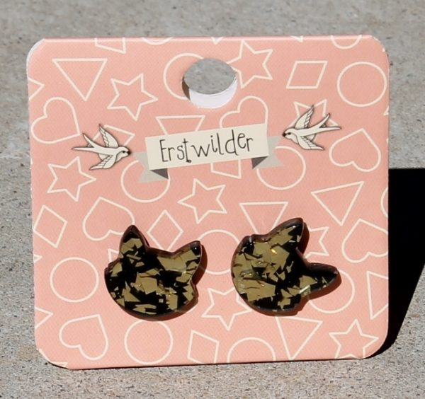 morpeth antique centre hunter valley erstwilder brooch enamel pin earrings necklace witch kitschy bone brigade retro pin up stud cat face gold glitter collectable halloween all hallows eve