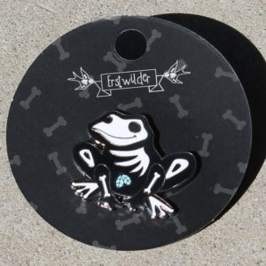 Erstwilder Enamel Pin – Haunted Hopper (Frog)
