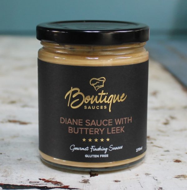 morpeth gourmet foods hunter valley boutique sauces diane sauce with buttery leek sauce