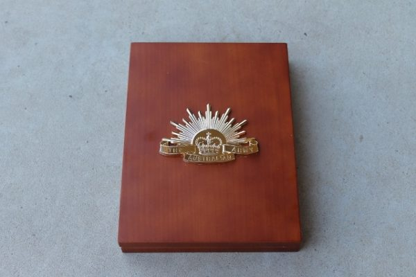 morpeth antique centre hunter valley ANZAC Australian hat badge rising sun collection