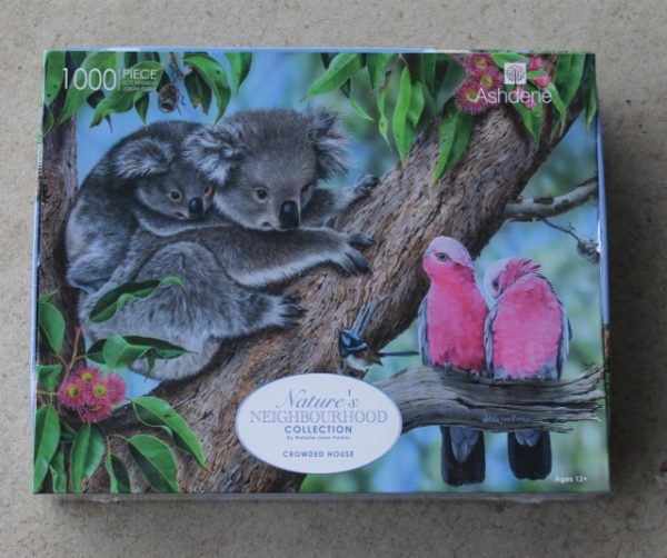 morpeth gift gallery hunter valley jigsaw puzzle 1000 pieces ashdene nature's neighbourhood collection centre of attention crowded house australian native birds animals flora fauna natalie jane parker artist