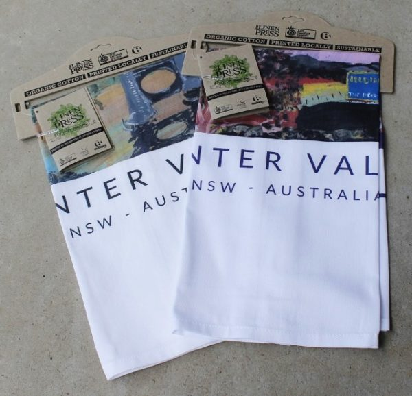 morpeth gift gallery hunter valley morpeth farmland souvenier tea towel indian root pill shed east maitland hunter river chris lloyd artist cotton organic