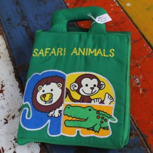 Cloth Book – Safari Animals