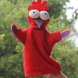 Funky Chicken – Plush Puppet
