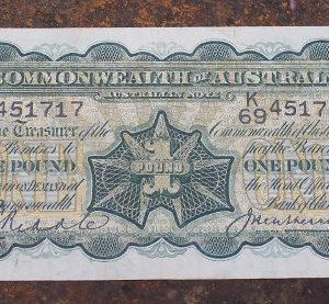 George V Australian One Pound Note 1927