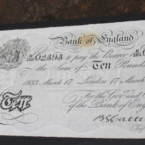 WWII Era Forged English Ten Pound Note – Operation Bernhard