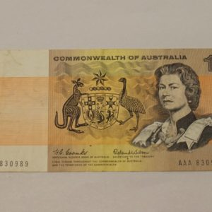 morpeth antique centre hunter valley australian one dollar note AAA first prefix 1966 decimal