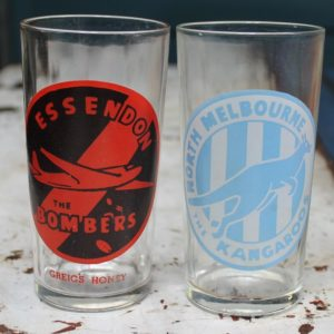Swanky Swig Glass – Essendon Bombers Coloured