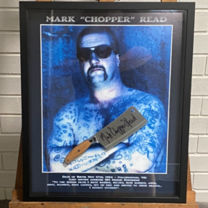 Framed Print & Signed Meat Cleaver – SOLD