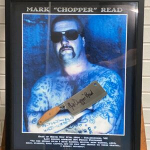 Framed Print & Meat Cleaver -SOLD