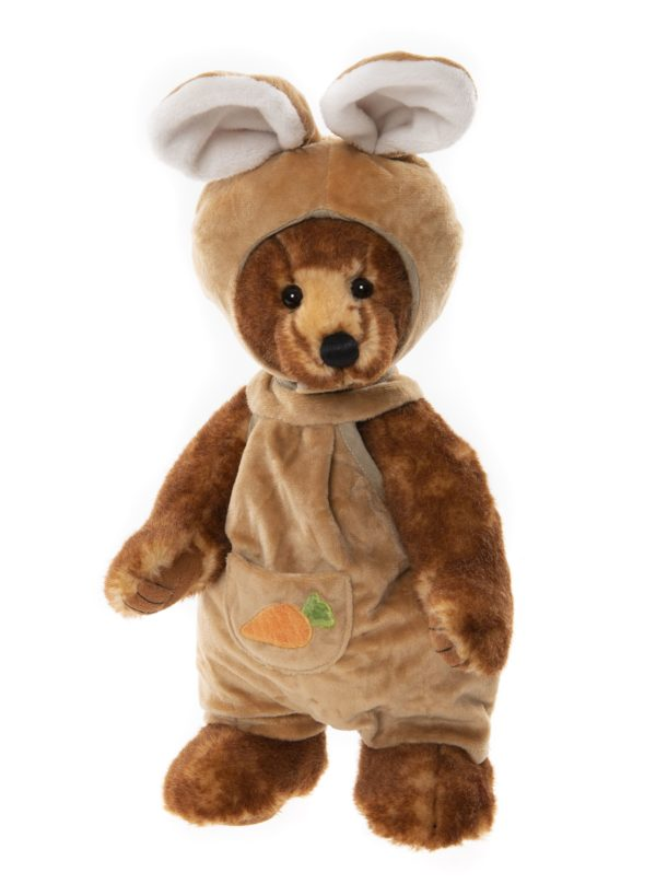 Morpeth Teddy Bears Charlie Bear Plush Collection Hunter Valley Romper bear dressed as mouse