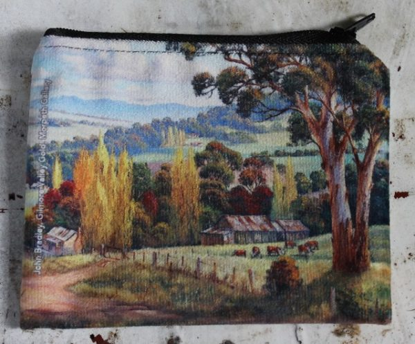 morpeth gift gallery hunter valley zip zippered purse coins toiletries make-up keys john bradley gilmore valley tumut new south wales autumn poplar austtralian country landscape