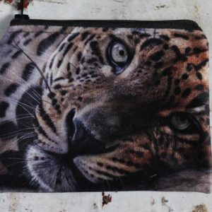 morpeth gift gallery hunter valley zip zippered purse coins toiletries make-up keys garry fleming lazy leopard jungle cat