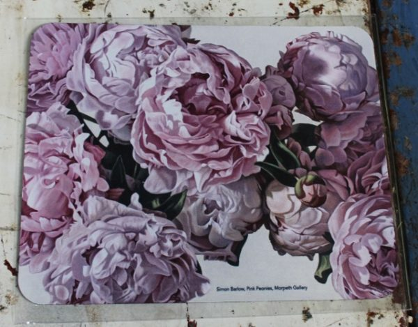 morpeth gift gallery hunter valley computer mouse mat pad simon barlow pink peonies floral splendour