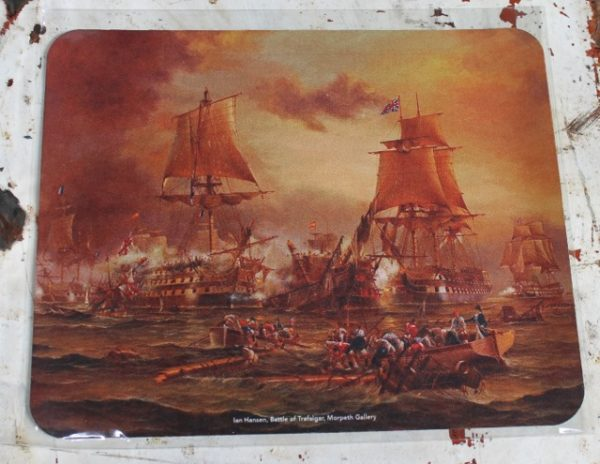morpeth gift gallery hunter valley computer mouse mat pad battle of trafalgar ship ian hansen