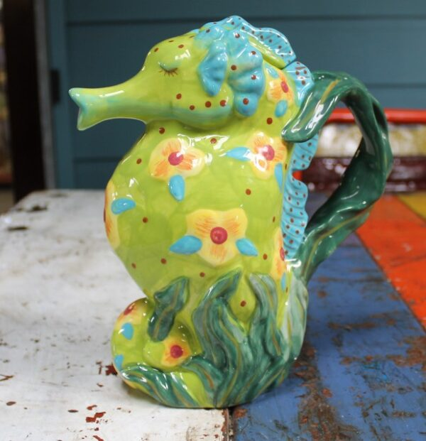 morpeth gift gallery novelty teapot ceramic seahorse