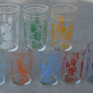 Kraft Australian Flannel Flower Glasses – Set of Eight