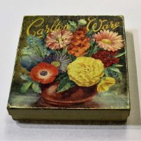 morpeth antique centre hunter valley carlton ware amber gold leaf dish and knife butter boxed